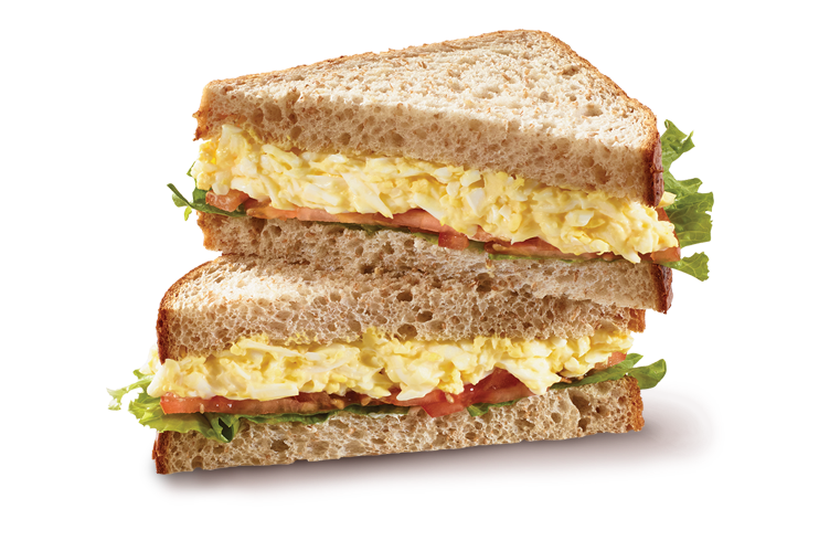 Egg salad sliced bread sandwich bistro deli for Tuna and egg sandwich