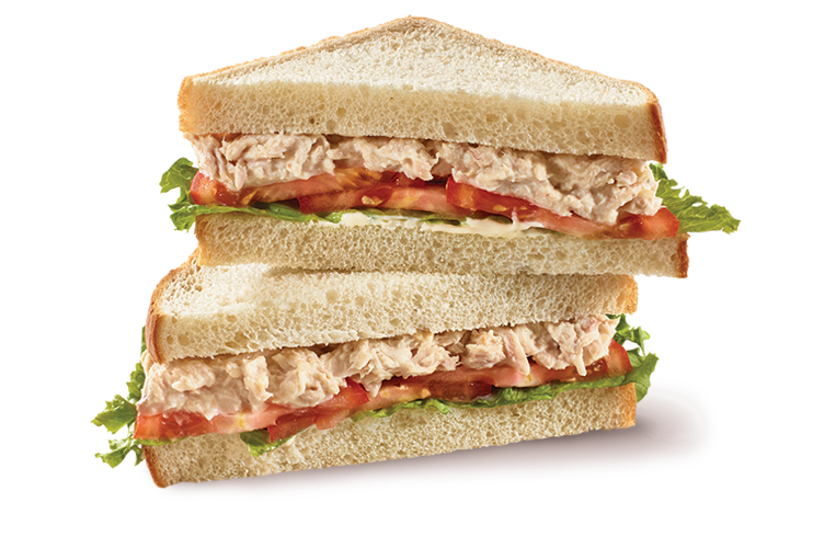 Tuna salad sliced bread sandwich bistro deli for Tuna and egg sandwich